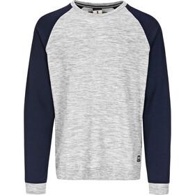 super.natural M's Essential Raglan Crew Sweater Ash Melange/Navy Blazer